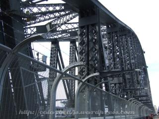 Harbour Bridge的鋼骨近照