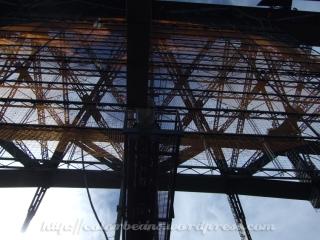 Harbour Bridge的橋中央往上看