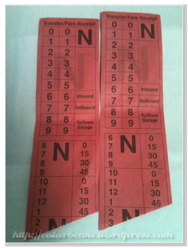 Kamloops的Transfer Tickets,像這樣就是3:45前都可以用