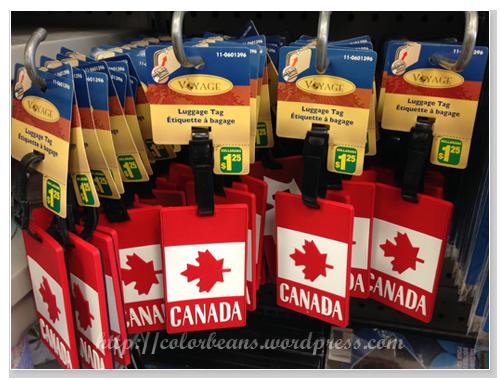 加拿大國旗的行李吊牌,CAD$1.25
