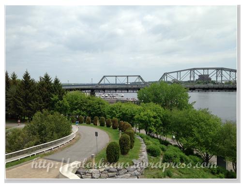 看台上可以看到Alexandra Bridge