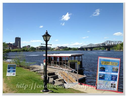 往返Canadian Museum of History和 the Ottawa dock的Aqua Taxi
