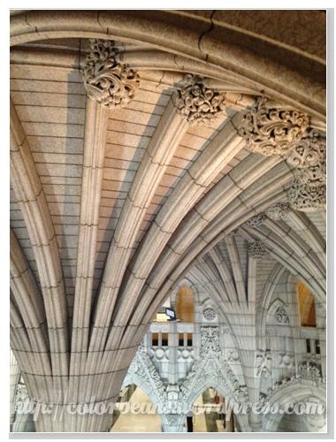 Parliament Buildings的建築很精緻細膩