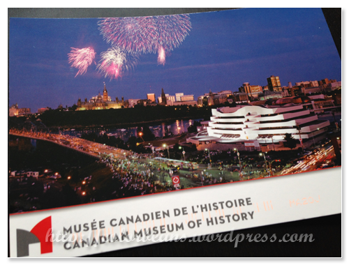 這次在Canadian Museum of History買的明信片