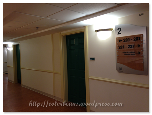 出了電梯,走廊跟飯店很像說!