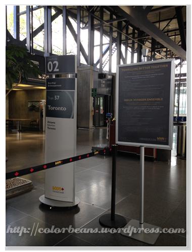 [VIA Ottawa Station] 要先看Information Board才知道gate是哪一個