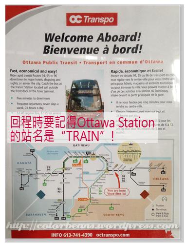 [VIA Ottawa Station] 車站裡面可以找到Ottawa的公車資訊
