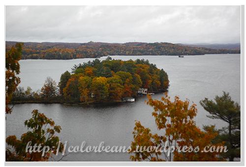Lion Lookout看出去的湖景view和許多小島