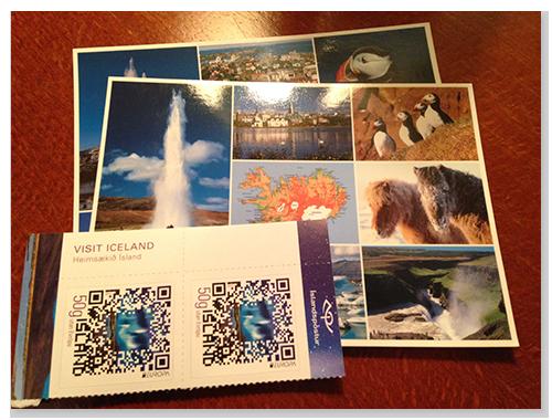 重觀光的冰島,郵票也很漂亮喔