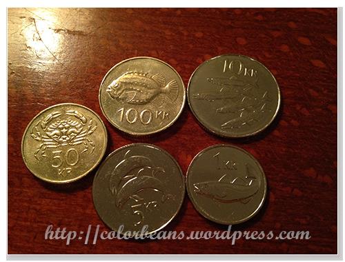 冰島硬幣正面都是各種海洋生物