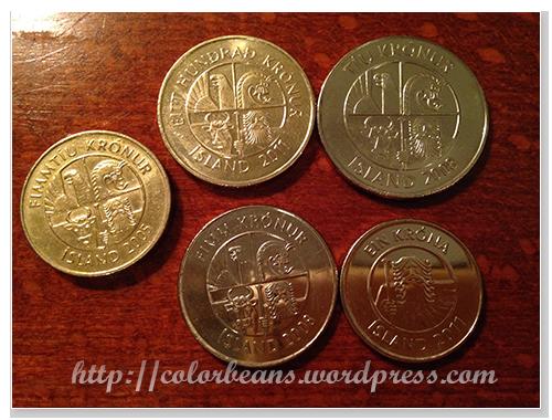 冰島硬幣背面則是一樣的標誌