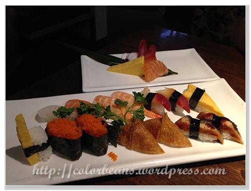 壽司(sushi)和生魚片(sashimi)