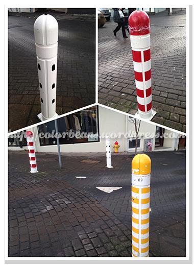 人行道的柱子