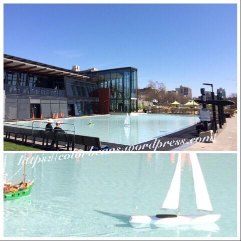Spencer Smith Park外的水池