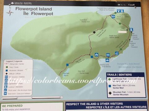 花瓶島健行地圖