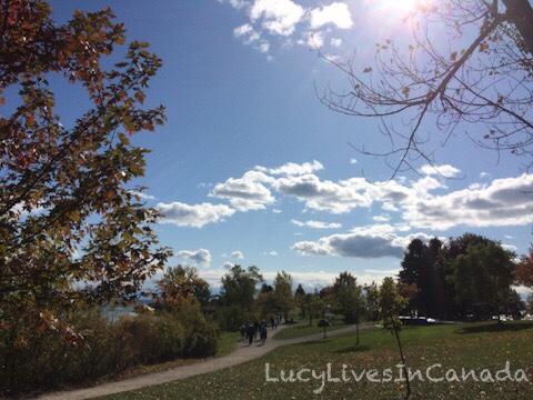 天氣好在Bluffer's Park散步也挺好