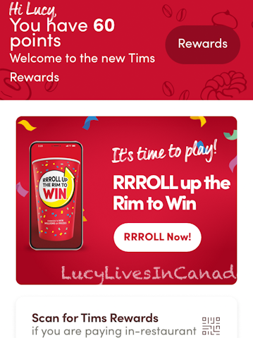Tim Hortons更新的reward program