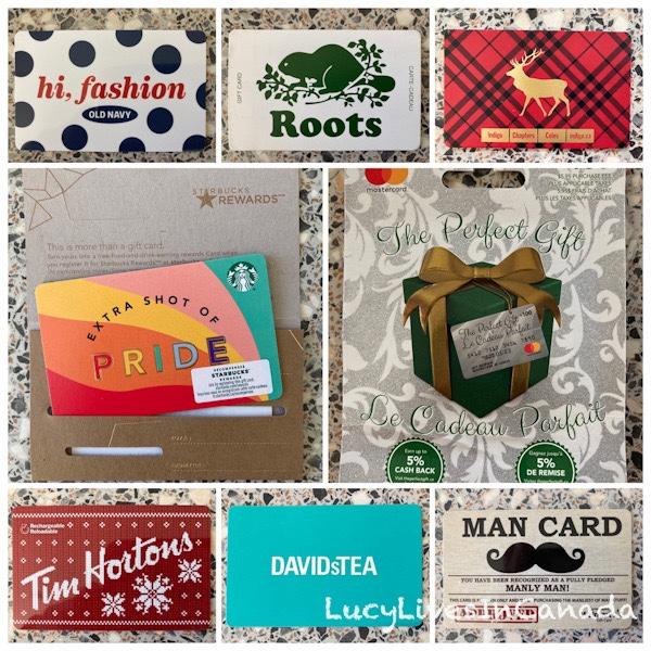 各種精美的gift cards